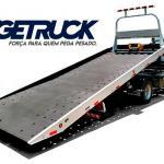 Plataforma de aluminio para caminhão